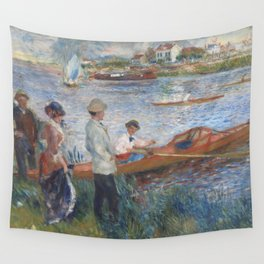 Auguste Renoir Oarsmen at Chatou 1879 Painting Wall Tapestry
