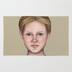 Blonde maiden Rug