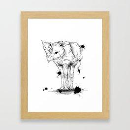 Einnashorn Framed Art Print