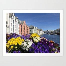 A day in Bergen Art Print