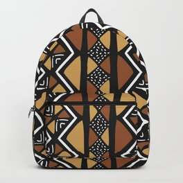 African mud cloth Mali Backpack