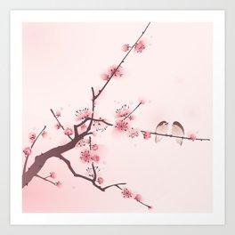 Oriental cherry blossom in spring 005 Art Print