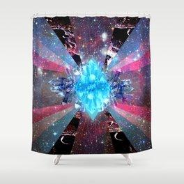 crystal light Shower Curtain