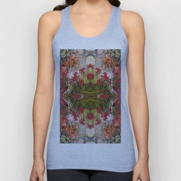 Queen Mardi Gras of the Garden (Mandala-esque #187aa) Unisex Tank Top