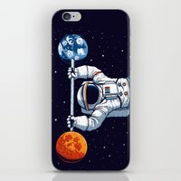 gym iPhone & iPod Skins featuring Space Gym  by Tobe Fonseca