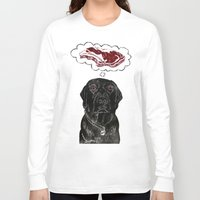 marley Long Sleeve T-shirts featuring Marley Dreams of Meat by minouette