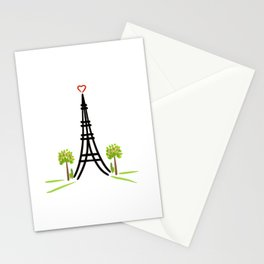 Paris Tower of Love Stationery Cards
