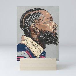 "Nipsey Hussle ""God will rise"" Mini Art Print"