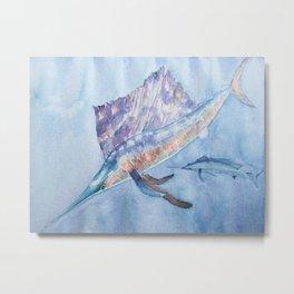 Sail Fish Metal Print