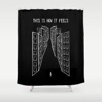 depression Shower Curtains featuring Depression by mailboxdisco