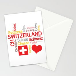 My Favorite Swiss Things Stationery Cards