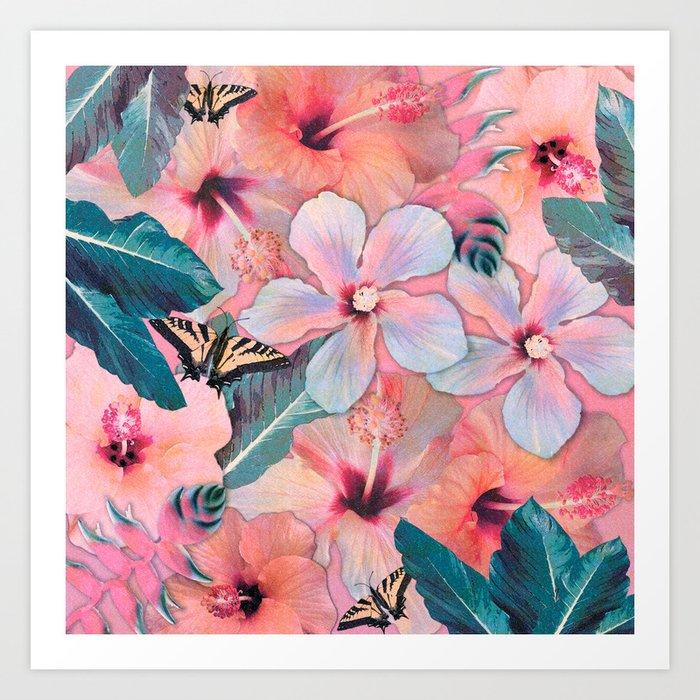 Hale Aloha Hibiscus Art Print