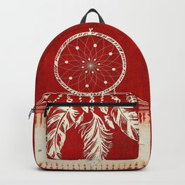 ARETERSTING V50 - Original Red Bohemian Moroccan Artwork Backpack