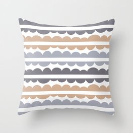 Mordidas Hazelnut Throw Pillow