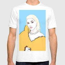CHRISTINA AGUILERA LIBERATION Yellow Fur Jacket T-shirt
