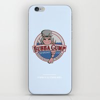 forrest gump iPhone & iPod Skins featuring STUPID IS AS STUPID DOES (Forrest Gump) by COMME UNE AFFICHE AU MUR