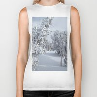 snow Biker Tanks featuring Snow by Chris Root