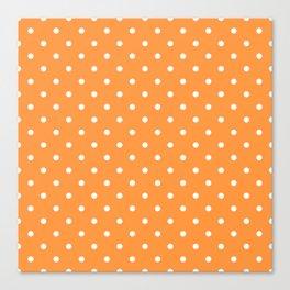 Sherbet Polka Dots Canvas Print
