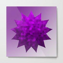 Kwan Yin's Star | Purple Flame | Compassion Metal Print