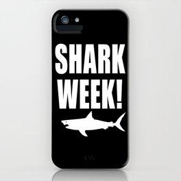 Shark week (on black) iPhone Case