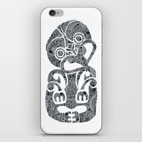 tiki iPhone & iPod Skins featuring Tiki  by AndreaGeddes