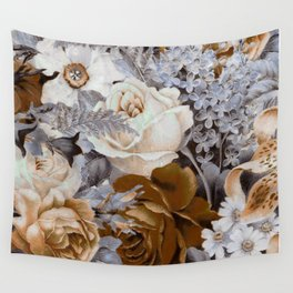 wintery floral Wall Tapestry