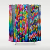 origami Shower Curtains featuring Origami by Sushibird