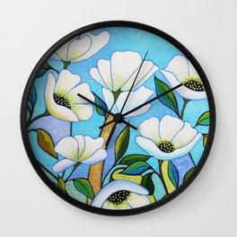 White Poppy's Wall Clock
