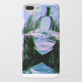 GIRL BY THE SEA - Sad Japanese Anime Aesthetic iPhone Case