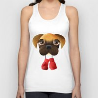 boxer Tank Tops featuring Boxer by Sloe Illustrations