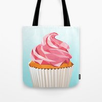 cupcake Tote Bags featuring Cupcake by kalieda