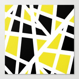 Abstract Interstate  Roadways Black & Yellow Color Canvas Print