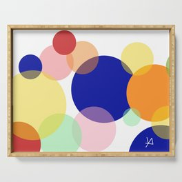 Art colors in circles Serving Tray