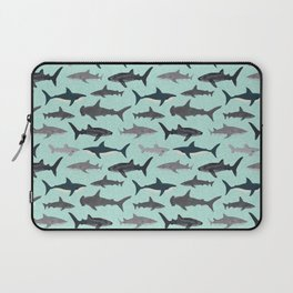 Sharks nature animal illustration texture print marine biologist sea life ocean Andrea Lauren Laptop Sleeve