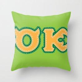 Monster University Fraternity : Oozma Kappa Throw Pillow