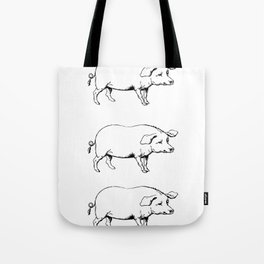 Pigs on a Blanket Tote Bag