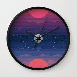 Sunset to Sunrise Wall Clock