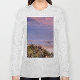 Pink sunrise at Bolonia beach. Paradise beach Long Sleeve T-shirt