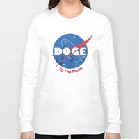 nasa Long Sleeve T-shirts featuring Nasa Doge by Tabner's