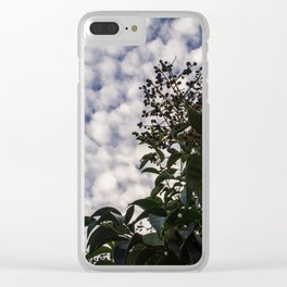 Elderberry, sky is the limit Clear iPhone Case