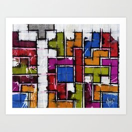 Life as Tetris Art Print