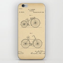 1886 Patent Bicycle Velocipede iPhone Skin
