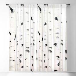birch  watercolor Blackout Curtain