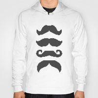 moustache Hoodies featuring Moustache by Jake  Williams