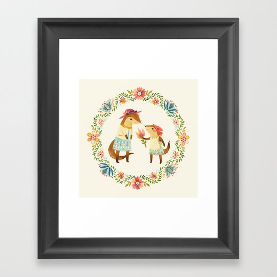 Otterly Grateful Framed Art Print