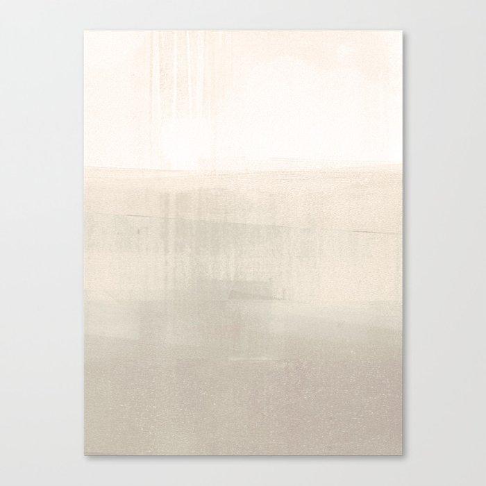 Beige and Taupe Horizon Minimalist Abstract Landscape Leinwanddruck