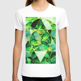 Hawaiian Jungle Abstract Mosaic T-shirt
