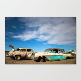 Salvage Yard Cars Canvas Print