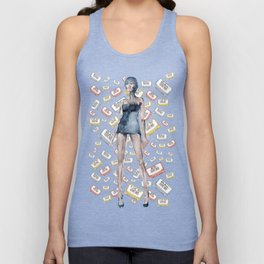 London Club Scene | Punk Rock Girl  Unisex Tank Top