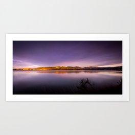 Sunset at Blueskin Bay, New Zealand Art Print